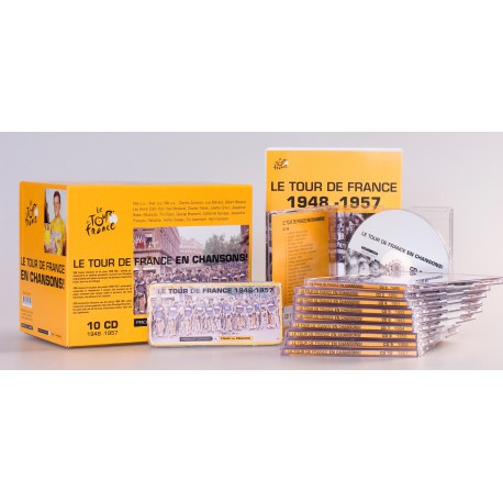 LE TOUR DE FRANCE EN CHANSONS. 10 CD Box.