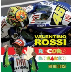 VALENTINO ROSSI. RECORD BREAKER. A TRIBUTE TO A LEGEND FROM MOTOCOURSE. !!! UITVERKOCHT.